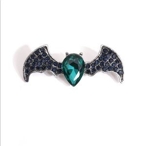 Other - Crystal Bat Brooch